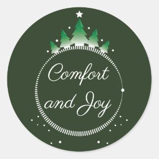 Etiqueta do conforto e da alegria | do pinheiro