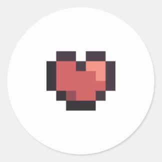 Etiqueta do coração adesivo