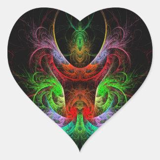 Etiqueta do coração da arte abstracta de Carnaval Adesivos