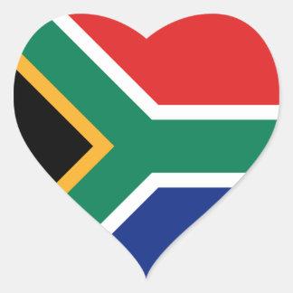 Etiqueta do coração da bandeira de África do Sul Adesivos Em Forma De Corações