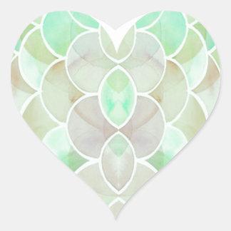 Etiqueta do coração da pele de cobra adesivo coração