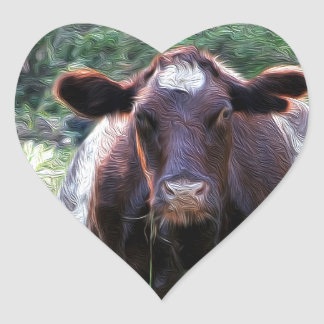 Etiqueta do coração da vaca de leiteria do