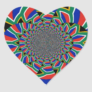 Etiqueta do coração de África do Sul Adesivo Em Forma De Coração