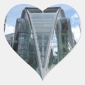 Etiqueta do coração de Londres do centro comercial