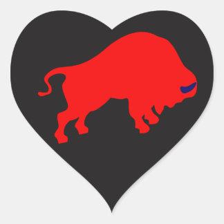 Etiqueta do coração de Red Bull Adesivo Coração