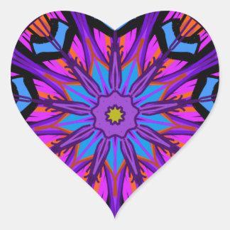 Etiqueta do coração. Design da estrela. Pica roxos