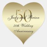 Etiqueta do coração do aniversário de casamento do adesivo de coração