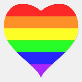 Etiqueta do coração do arco-íris do orgulho gay de