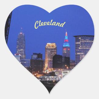 Etiqueta do coração do céu nocturno de Cleveland,