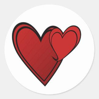 Etiqueta do coração do dueto