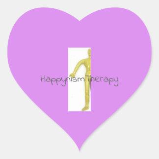 Etiqueta do coração do homem amarelo