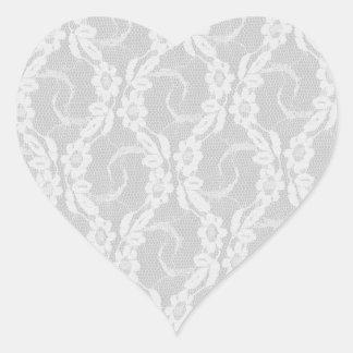 Etiqueta do coração do laço adesivos em forma de corações