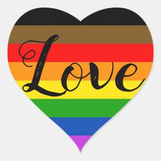 Etiqueta do coração do orgulho