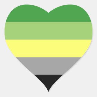 Etiqueta do coração do orgulho de Aro