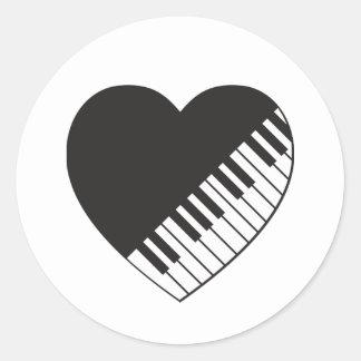 Etiqueta do coração do piano