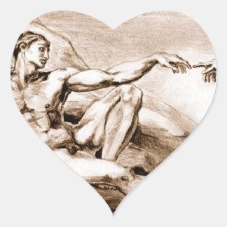 Etiqueta do coração do tom do Sepia de Adam