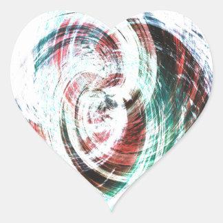 Etiqueta do coração do verde e do vermelho de mar