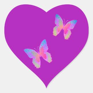 etiqueta do coração do Vibração-adeus
