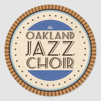 Etiqueta do coro do jazz de Oakland