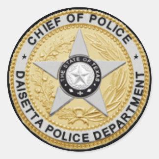 Etiqueta do crachá do departamento da polícia de adesivo