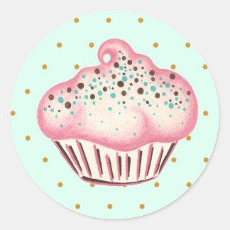 Etiqueta do cupcake adesivo