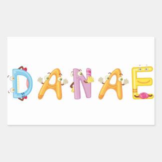 Etiqueta do Danae