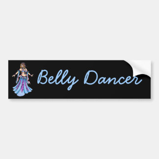 Etiqueta do dançarino de barriga dos doces adesivo de para-choque