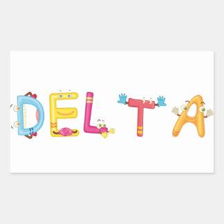 Etiqueta do delta