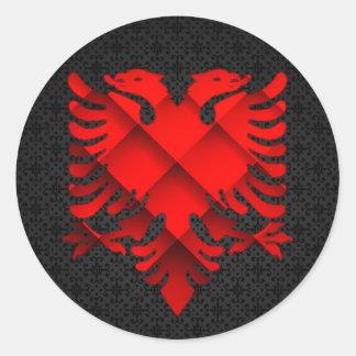 Etiqueta do design de Albânia