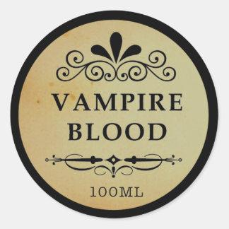 Etiqueta do Dia das Bruxas do sangue do vampiro do