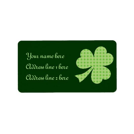 Etiqueta do dia de St Patrick das bolinhas do