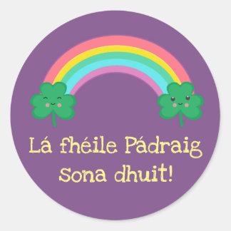 Etiqueta do dia de St Patrick do irlandês com