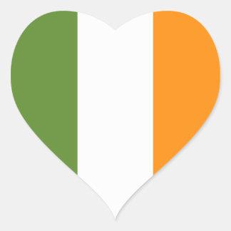 Etiqueta do dia de St Patrick irlandês do coração