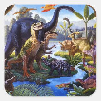 Etiqueta do dinossauro