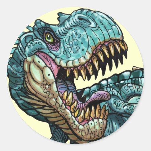 Etiqueta do dinossauro adesivo