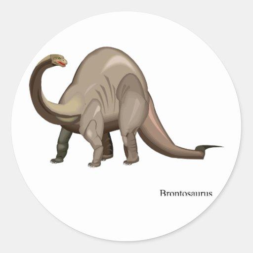Etiqueta do dinossauro adesivos redondos