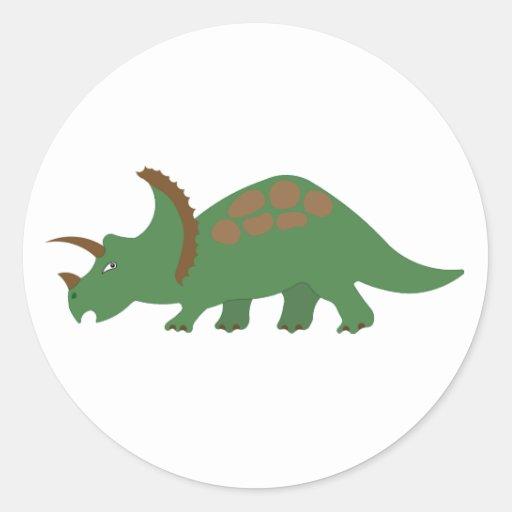 Etiqueta do dinossauro adesivos em formato redondos