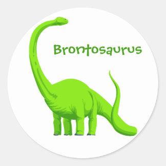 Etiqueta do dinossauro do Brontosaurus Adesivos