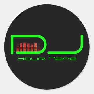 Etiqueta do DJ Adesivo
