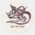 Etiqueta do dragão adesivos em formato redondos
