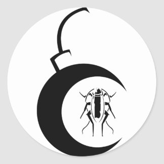Etiqueta do EC bomba preta Adesivos Em Formato Redondos