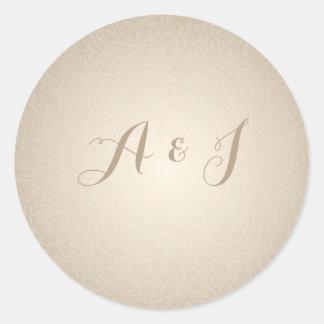 Etiqueta do envelope do convite do casamento do adesivo