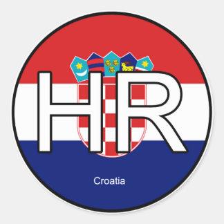 Etiqueta do euro de Croatia Adesivo Em Formato Redondo
