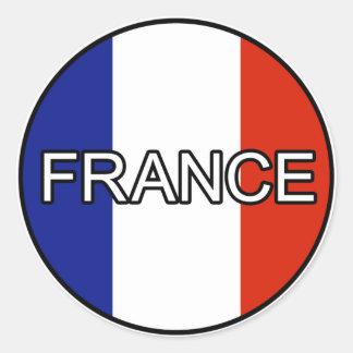 Etiqueta do euro de France Adesivo Em Formato Redondo