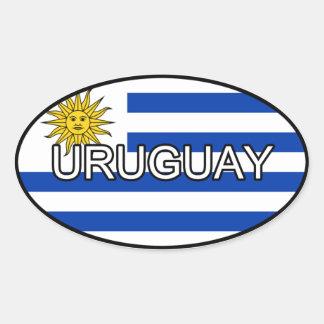 Etiqueta do euro de Uruguai Adesivos Oval