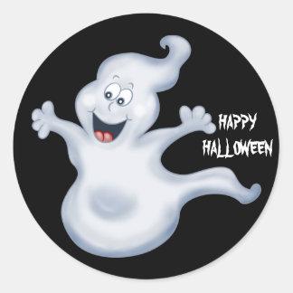 Etiqueta do fantasma do Dia das Bruxas Adesivo