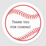 Etiqueta do favor do basebol adesivos redondos