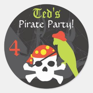 Etiqueta do favor - pirata adesivo