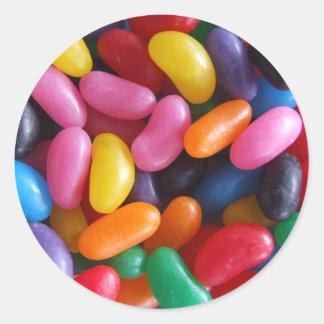 Etiqueta do feijão de geléia adesivo