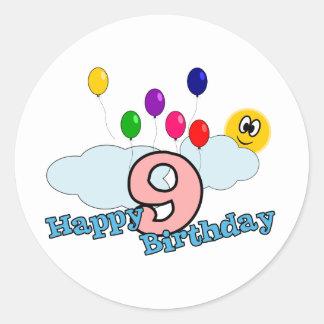 Etiqueta do feliz aniversario adesivo